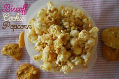 Biscoff Cookie Popcorn   ~~~  Sweet, salty, & crunchy, it has all the textures & flavors you want in kettle corn without being too cloying. A big bowl of this during a show is sure to please–