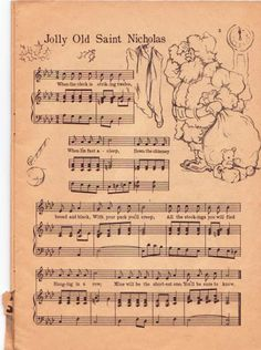 Make your holiday decorating and gift giving easy with these free printable vintage Christmas sheet music pages! Just print and frame for easy decor and gifts. Christmas Images, Christmas Carol, Christmas Projects, All Things Christmas, Holiday Crafts, Vintage Christmas, Christmas Holidays, Primitive Christmas, Country Christmas