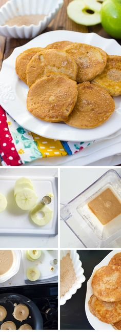 Grain-Free Apple Ring Pancakes! Protein-packed pancakes filled with a ...