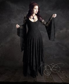 Hey, I found this really awesome Etsy listing at https://www.etsy.com/listing/205997423/annaleah-gothic-wedding-dress-black-lace