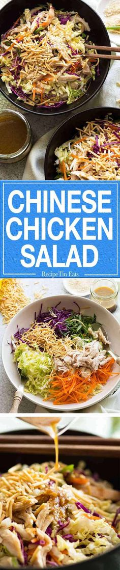 Chicken Salad The Asian Dressing for this Chinese Chicken Salad is totally delish. And the crunchy noodles seal the deal!The Asian Dressing for this Chinese Chicken Salad is totally delish. And the crunchy noodles seal the deal! Recipetin Eats, Recipe Tin, Chicken Salad Recipes, Salad Chicken, Main Dish Salads, Chinese Chicken, Pasta, Asian Dressing, Asian Recipes