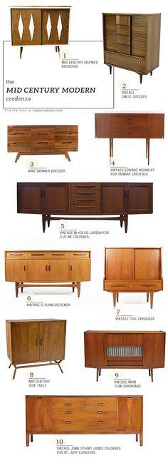 Mid Century Credenza's & Dressers