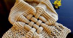 Aqui---> Mais Cachecol Trançado em Tricô!!! AQUI está a RECEITA Eu preferi mais curto e  diminui um pouquinho o comprimento,... Knitted Headband, Fashion, Knit Headband, Long Scarf, Beige, Recipe, Tricot, Moda, Fashion Styles