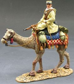 Lawrence of Arabia AK031 German Vichy French Camel Corps Sergeant - Made by King and Country Military Miniatures and Models. Factory made, hand assembled, painted and boxed in a padded decorative box. Excellent gift for the enthusiast.