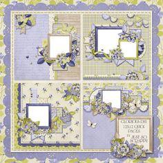Glorious Day Digital Scrapbook Kit 12x12 Quick by JssScrapBoutique, $2.99