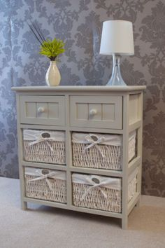 Whitehaven-6-Drawer-Wicker-Bedside-Basket-Storage-Rattan-Lamp-Cabinet-Farmhouse   59 x 55 £89  apple white