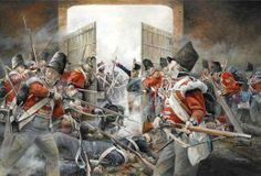 Hougoumont — Sous-Lieutenant Legros, wielding an axe, managed to break through the north gate. A desperate fight ensued between the invading French soldiers and the defending Guards. In a near-miraculous attack, Macdonell, a small party of officers and Corporal James Graham fought through the melee to shut the gate, trapping Legros and about 30 other soldiers of the 1st Legere inside. All of the French who entered, apart from a young drummer boy, were killed in a desperate hand-to-hand…