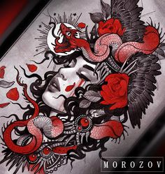 "10.4k Likes, 52 Comments - Vitaly Morozov (@mvtattoo) on Instagram: ""Design available tattoomv@gmail.com/ эскиз свободен…"""