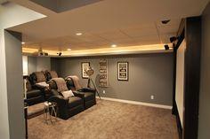 basement layout ideas | Beautiful Basement Decorating Ideas: Finished Basement & Home Theater ...