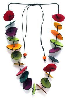 Tagua Nut Sliced Necklace
