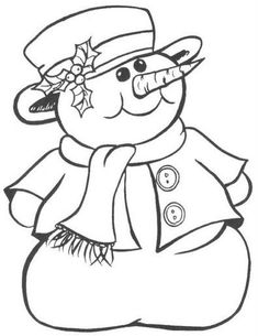 50 Ideas for drawing christmas embroidery designs Christmas Colors, Christmas Snowman, Christmas Crafts, Kids Christmas, Vintage Christmas, Christmas Coloring Pages, Coloring Book Pages, Snowman Coloring Pages, Coloring Sheets