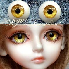 BJD doll eyes golden acrylic 20mm half ball SD/MSD eyes 1 pair Yellow Eyes, Doll Eyes, Amazon Art, Bjd Dolls, Ball Jointed Dolls, Halloween Face Makeup, Full Moon, Sd, Biscuit