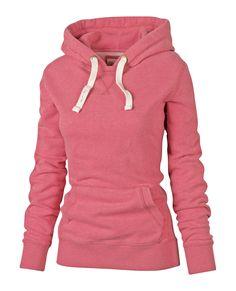Simple Hooded Long Sleeve Pocket Design Women's Hoodie