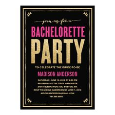 SHIMMER & SPARKLE | BACHELORETTE PARTY INVITATION #wedding