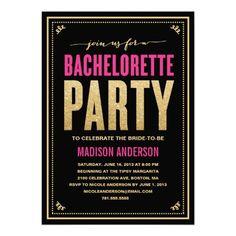 SHIMMER & SPARKLE   BACHELORETTE PARTY INVITATION #wedding