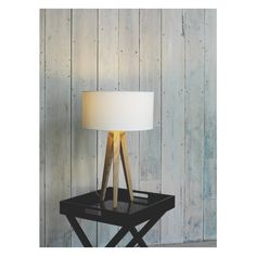 TRIPOD Ash wooden tripod table lamp base | Buy now at Habitat UK