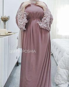 Modest Fashion Hijab, Abaya Fashion, Muslim Fashion, Fashion Wear, Fashion Dresses, Hijab Dress Party, Mode Abaya, Muslim Dress, Trendy Dresses