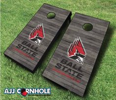 Officially Licensed Ball State Cornhole Set. Show off your pride at your next cookout or tailgate with our signature distressed design! www.ajjcornhole.com