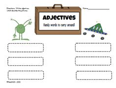 FREE adjectives printable