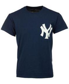 Majestic Men's Bernie Williams New York Yankees Cooperstown Player T-Shirt - Blue M