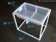 Build your own sensory table.