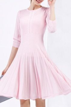 Shop bellywear pink knee length sweater dress here, find your sweater  dresses at dezzal, huge selection and best quality.