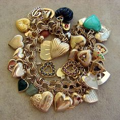 1000 Images About Charm Bracelets Vintage Etc On