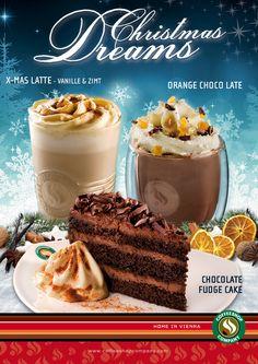 Sie sind wieder da! Unsere Christmas Dreams.  Es wird kalt draußen und langsam liegt weihnachtliche Stimmung in der Luft. Es ist die Zeit angekommen in der wir uns mit unseren Lieben bei einer Tasse köstlichen Kaffee, einer wundervollen Heißen Schokolade oder einem Schokoladekuchen der Seinesgleichen sucht treffen.  Hol dir jetzt unsere neuen Christmas Dream - Produkte. Ab sofort in allen teilnehmenden Coffeeshop Company Stores.