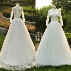Vintage Look Wedding Dresses Sheer Pearls Off Shoulder Long Sleeve Elegant Bling Beaded Sash A Line Ivory Long Chiffon Bridal Gowns Taffeta