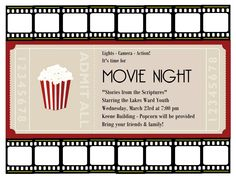Images For Movie Night Poster Template