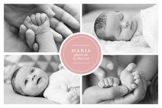 Geburtskarte Stempel 5 Fotos