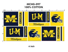 UNIVERSITY OF MICHIGAN : Fabric Store for YOUR College - University