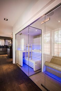 Specialist in maatwerk wellness en interieurprojecten Sauna Design, Gym Design, House Design, Spa Interior, Luxury Interior Design, Saunas, Steam Room Shower, Home Spa Room, Steam Sauna