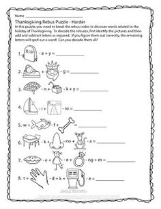 Free Printable Rebus Worksheet From Puzzles To Print