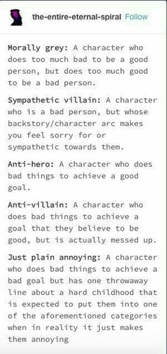 I'm writing about a sympathetic villain in the place of the protagonist. So you think she is good, but everything is done out of hatred and revenge Creative Writing Tips, Book Writing Tips, Writing Words, Writing Resources, Writing Help, Writing Skills, Writing Ideas, The Words, Once Upon A Tome