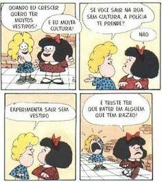Entre Mafalda e Susanita: Dia 30 – O que você quiser - tirinhas da Mafalda