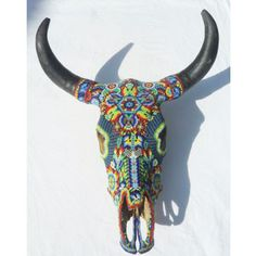 Huichol beadwork. So beautiful! Google Image Result for http://mexic-art.com/products/bull-skull2.jpg
