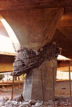 Rotura de fuste de pila de puente