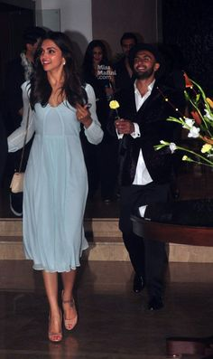 How adorable is Ranveer Singh chasing after Deepika Padukone with a flower! #deepveer #otp