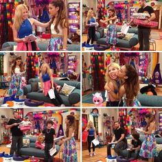 Ariana Grande on Sam and Cat Sam E Cat, Ariana Grande Cat, Icarly And Victorious, Jenette Mccurdy, Cats Cast, Old Shows, Cat Valentine, Celebs, Celebrities