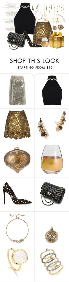 """""""Happy New Year!"""" by style-and-chic-boutique ❤ liked on Polyvore featuring Vanessa Bruno, Miss Selfridge, Matthew Williamson, Kendra Scott, Marc Blackwell, Dune Black, Shishi, Monica Vinader and Freida Rothman"""