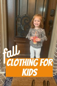 Fall clothing picks and back to school for kids