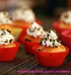 Cupcakes aux tomates, chèvre et basilic - Recettes de cuisine Ôdélices