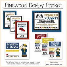 Cub Scouts Pinewood Derby Invitations and Awards by BrightlyStreet