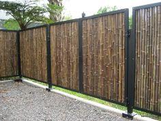 cerco de cañas bambú y tacuara paneles bamboo