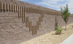 block cinder block slump retaining Block Wall, Cinder, Model Building, Acre, Pergola, Backyard, Outdoor Structures, Fence Ideas, Landscape