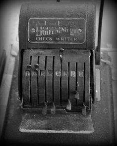 A check writer from the early 30's