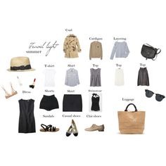 Minimal + Classic: summer travel light wardrobe