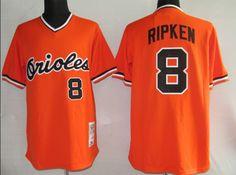 $22.00 MLB Jerseys Baltimore Orioles Cal Ripken #8 Orange
