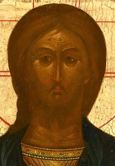 Detailed view: X004. Saviour- exhibited at the Temple Gallery, specialists in Russian icons 31.2 x 26.5 coll hiver 2007
